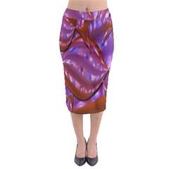 Passion Candy Sensual Abstract Midi Pencil Skirt by Simbadda