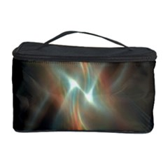 Colorful Waves With Lights Abstract Multicolor Waves With Bright Lights Background Cosmetic Storage Case by Simbadda
