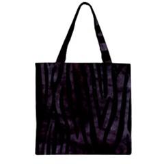 Skin4 Black Marble & Black Watercolor Zipper Grocery Tote Bag by trendistuff