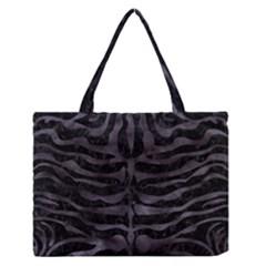 Skin2 Black Marble & Black Watercolor Medium Zipper Tote Bag by trendistuff