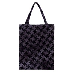 Houndstooth2 Black Marble & Black Watercolor Classic Tote Bag by trendistuff