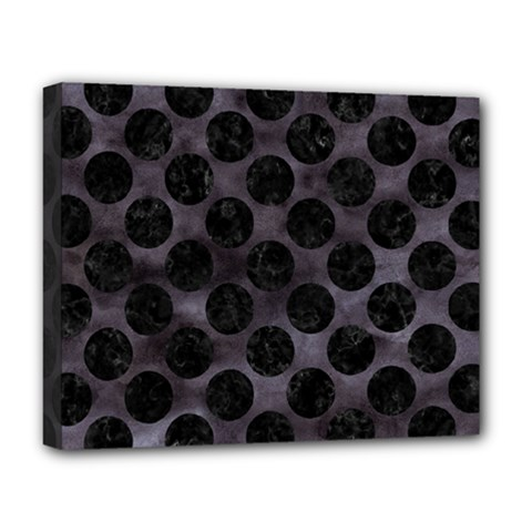 Circles2 Black Marble & Black Watercolor (r) Deluxe Canvas 20  X 16  (stretched) by trendistuff