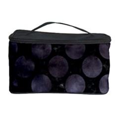Circles2 Black Marble & Black Watercolor Cosmetic Storage Case by trendistuff