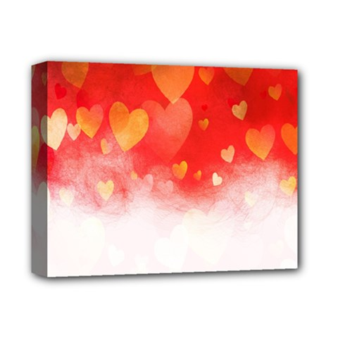 Abstract Love Heart Design Deluxe Canvas 14  X 11  by Simbadda