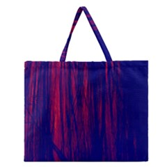 Abstract Color Red Blue Zipper Large Tote Bag by Simbadda