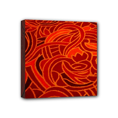 Orange Abstract Background Mini Canvas 4  X 4  by Simbadda