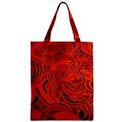 Orange Abstract Background Zipper Classic Tote Bag by Simbadda