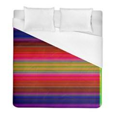 Fiesta Stripe Bright Colorful Neon Stripes Cinco De Mayo Background Duvet Cover (full/ Double Size)