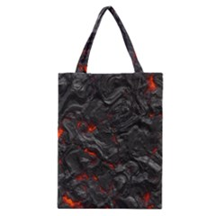 Volcanic Lava Background Effect Classic Tote Bag by Simbadda