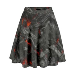 Volcanic Lava Background Effect High Waist Skirt by Simbadda