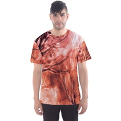 Fire In The Forest Artistic Reproduction Of A Forest Photo Men s Sport Mesh Tee by Simbadda