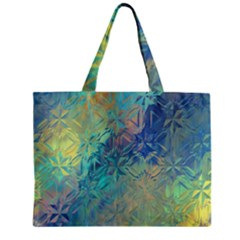 Colorful Patterned Glass Texture Background Zipper Mini Tote Bag by Simbadda
