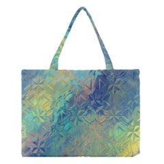 Colorful Patterned Glass Texture Background Medium Tote Bag by Simbadda