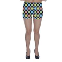 Diamond Argyle Pattern Colorful Diamonds On Argyle Style Skinny Shorts by Simbadda