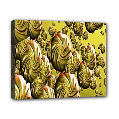 Melting Gold Drops Brighten Version Abstract Pattern Revised Edition Canvas 10  X 8  by Simbadda