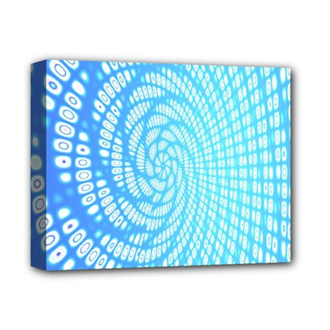 Abstract Pattern Neon Glow Background Deluxe Canvas 14  X 11  by Simbadda