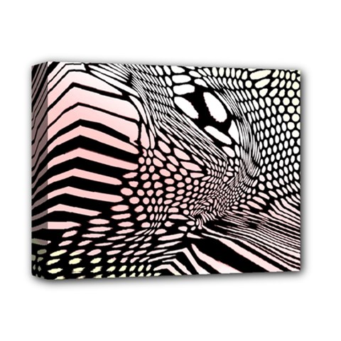 Abstract Fauna Pattern When Zebra And Giraffe Melt Together Deluxe Canvas 14  X 11  by Simbadda