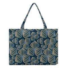 Gradient Flowers Abstract Background Medium Tote Bag by Simbadda