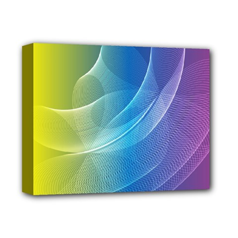 Colorful Guilloche Spiral Pattern Background Deluxe Canvas 14  X 11  by Simbadda