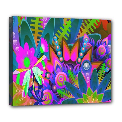 Wild Abstract Design Deluxe Canvas 24  X 20   by Simbadda