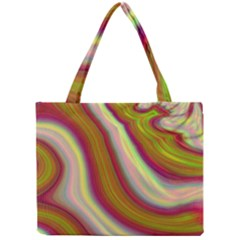 Artificial Colorful Lava Background Mini Tote Bag by Simbadda