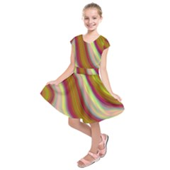 Artificial Colorful Lava Background Kids  Short Sleeve Dress