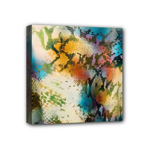 Abstract Color Splash Background Colorful Wallpaper Mini Canvas 4  X 4  by Simbadda
