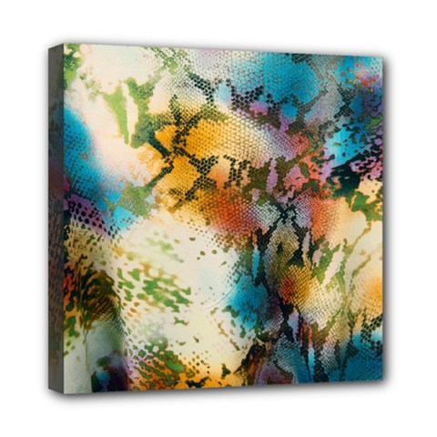 Abstract Color Splash Background Colorful Wallpaper Mini Canvas 8  X 8  by Simbadda