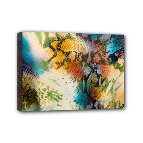 Abstract Color Splash Background Colorful Wallpaper Mini Canvas 7  X 5  by Simbadda