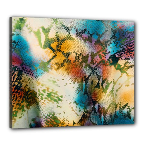 Abstract Color Splash Background Colorful Wallpaper Canvas 24  X 20  by Simbadda