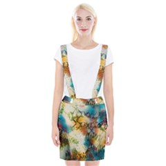Abstract Color Splash Background Colorful Wallpaper Suspender Skirt by Simbadda