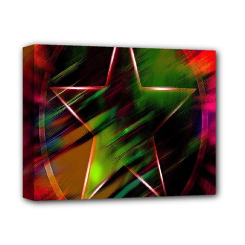 Colorful Background Star Deluxe Canvas 14  X 11  by Simbadda