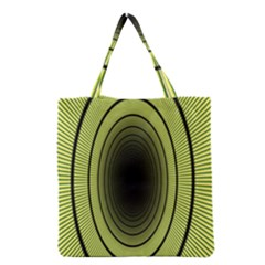 Spiral Tunnel Abstract Background Pattern Grocery Tote Bag by Simbadda