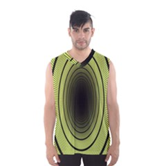 Spiral Tunnel Abstract Background Pattern Men s Basketball Tank Top
