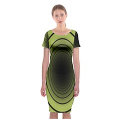 Spiral Tunnel Abstract Background Pattern Classic Short Sleeve Midi Dress