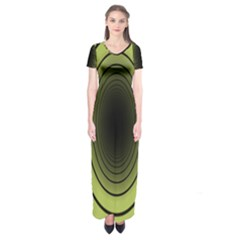 Spiral Tunnel Abstract Background Pattern Short Sleeve Maxi Dress by Simbadda