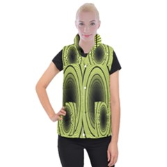 Spiral Tunnel Abstract Background Pattern Women s Button Up Puffer Vest