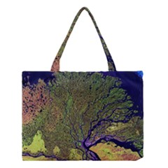 Lena River Delta A Photo Of A Colorful River Delta Taken From A Satellite Medium Tote Bag by Simbadda