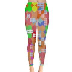 Abstract Polka Dot Pattern Digitally Created Abstract Background Pattern With An Urban Feel Leggings  by Simbadda