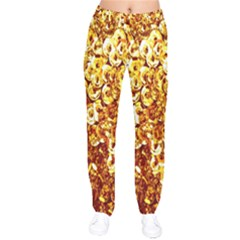 Yellow Abstract Background Drawstring Pants by Simbadda