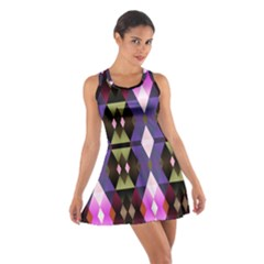 Geometric Abstract Background Art Cotton Racerback Dress by Nexatart
