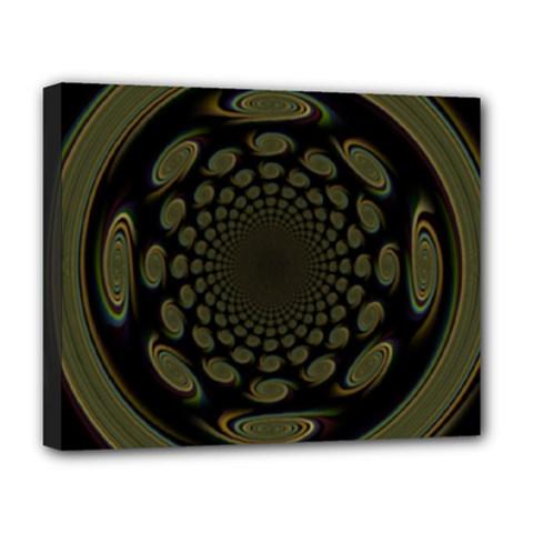Dark Portal Fractal Esque Background Deluxe Canvas 20  X 16   by Nexatart