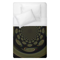 Dark Portal Fractal Esque Background Duvet Cover (single Size) by Nexatart
