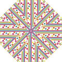 Stripes And Polka Dots Colorful Pattern Wallpaper Background Hook Handle Umbrellas (medium)