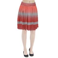 Orange Stripes Colorful Background Textile Cotton Cloth Pattern Stripes Colorful Orange Neo Pleated Skirt by Nexatart