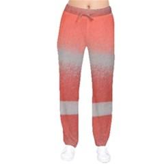 Orange Stripes Colorful Background Textile Cotton Cloth Pattern Stripes Colorful Orange Neo Drawstring Pants by Nexatart