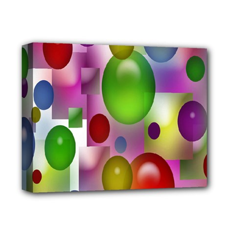 Colored Bubbles Squares Background Deluxe Canvas 14  X 11  by Nexatart