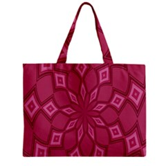 Fusia Abstract Background Element Diamonds Zipper Mini Tote Bag by Nexatart