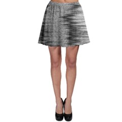 Rectangle Abstract Background Black And White In Rectangle Shape Skater Skirt by Nexatart