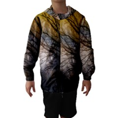 Tree Art Artistic Abstract Background Hooded Wind Breaker (Kids) by Nexatart